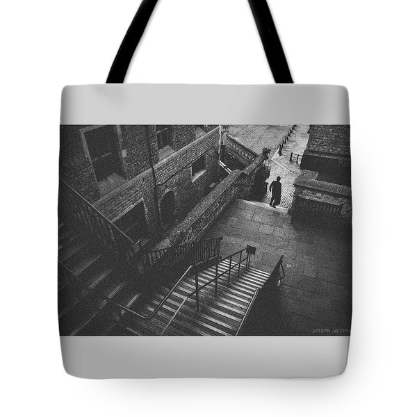 In Pursuit Of The Devil On The Stairs Tote Bag