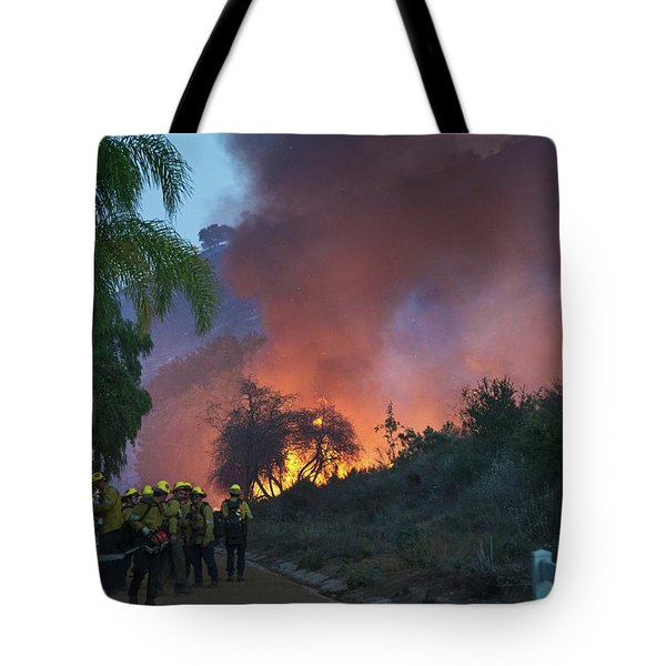 Tote Bag featuring the photograph In The Line Of Duty by Lynn Bauer