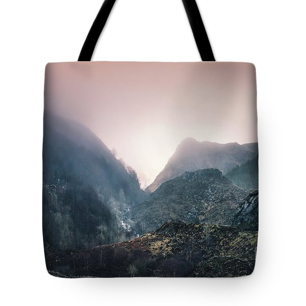 In The Mist Of The Hills Tote Bag