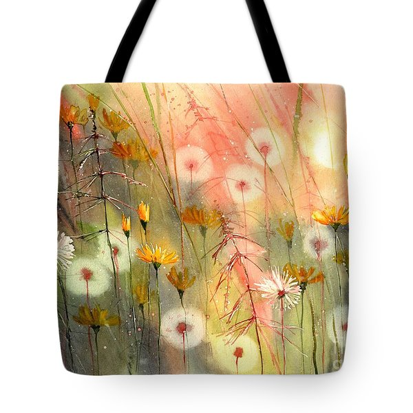 In The Morning Haze Tote Bag