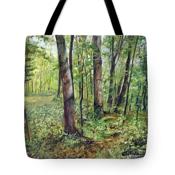 In The Shaded Forest  Tote Bag