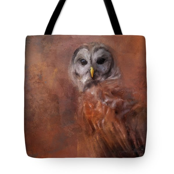 Tote Bag featuring the painting In The Veil Of Autumn by Jai Johnson
