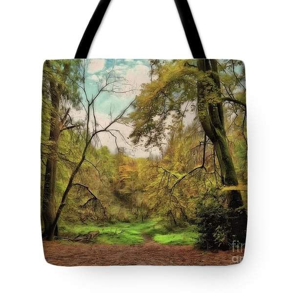 Tote Bag featuring the photograph In The Woods by Leigh Kemp