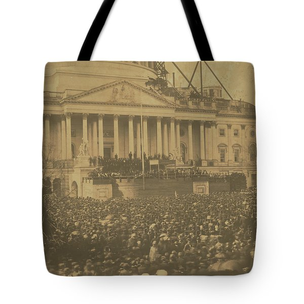 Inauguration Of Abraham Lincoln, March 4, 1861 Tote Bag
