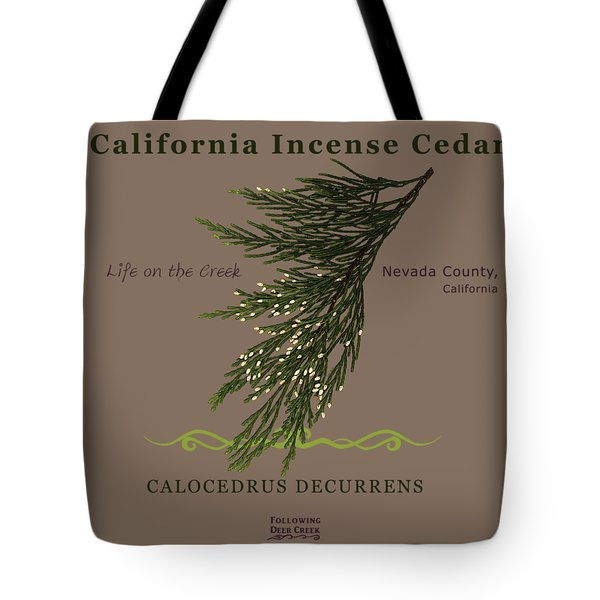 Incense Cedar - Brpwn Text Tote Bag
