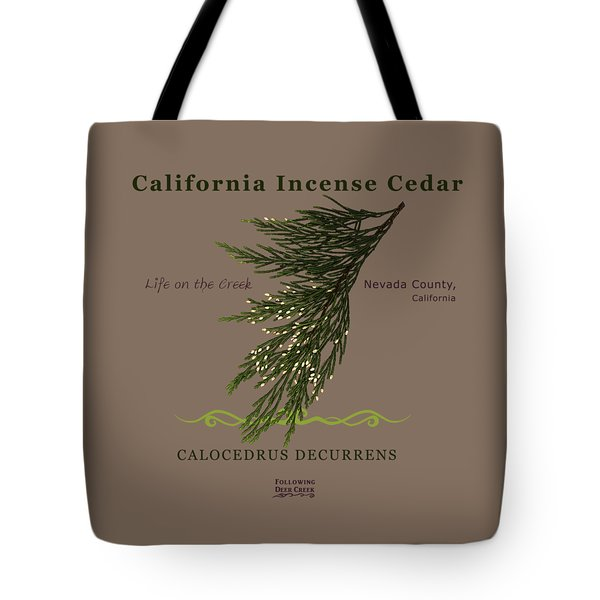 Incense Cedar - Brpwn Text Tote Bag