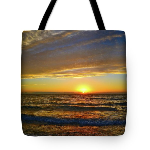 Tote Bag featuring the photograph Incredible Sunrise Over The Atlantic Ocean by Lynn Bauer