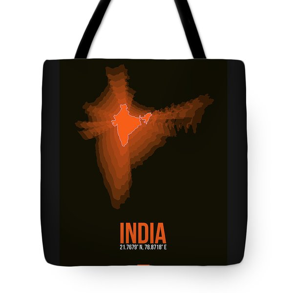 India Radiant Map 1 Tote Bag