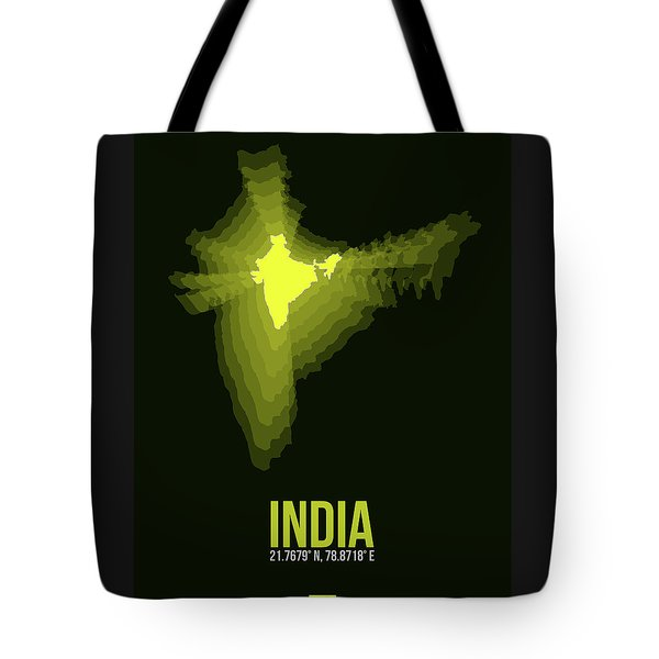 India Radiant Map 2 Tote Bag