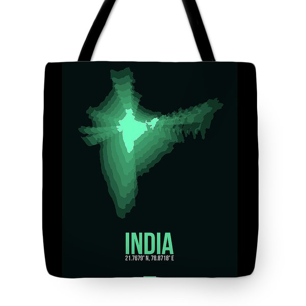 India Radiant Map 3 Tote Bag