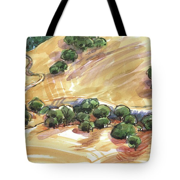 Tote Bag featuring the painting Indian Creek Valley From Shell Ridge by Judith Kunzle