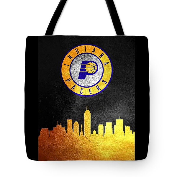 Indiana Pacers Skyline Tote Bag