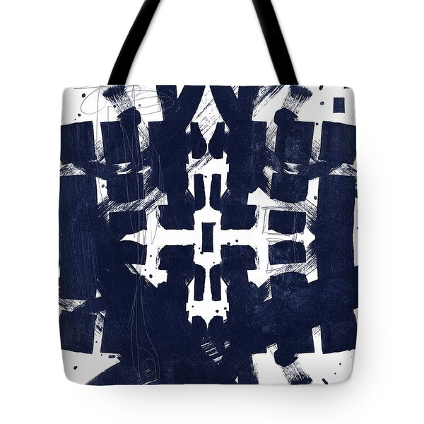 Indigo Abstract 2- Art By Linda Woods Tote Bag