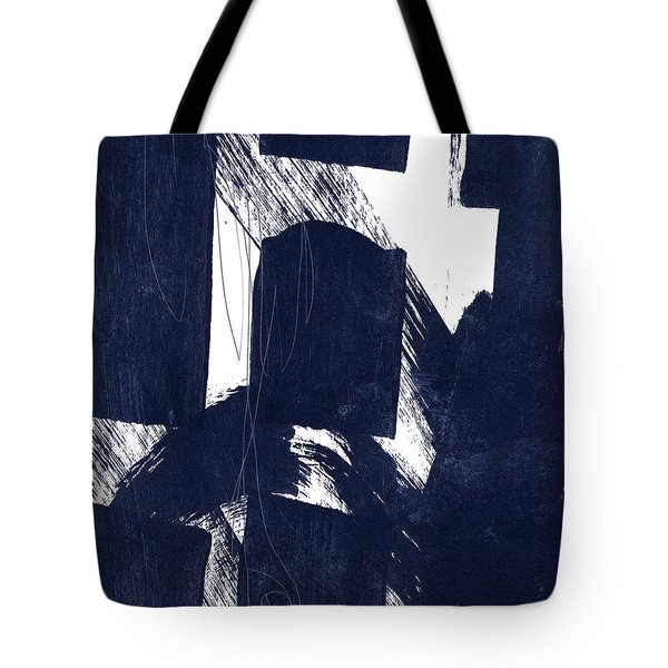 Indigo Abstract- Art By Linda Woods Tote Bag