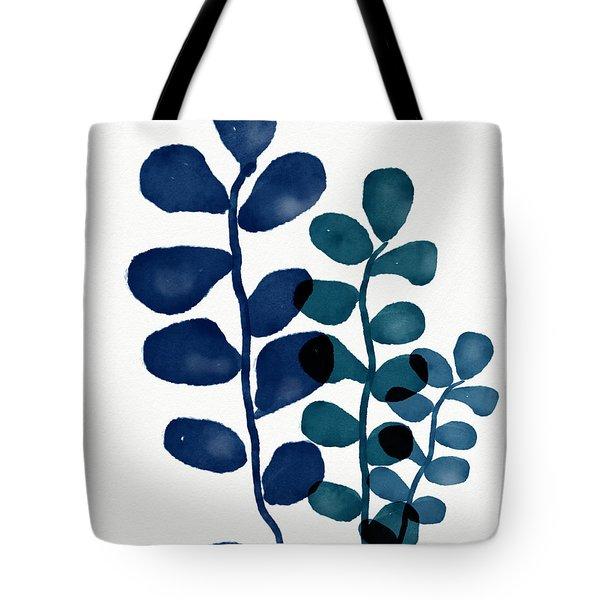 Indigo Eucalyptus 1- Art By Linda Woods Tote Bag
