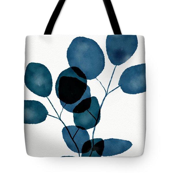 Indigo Eucalyptus 3- Art By Linda Woods Tote Bag