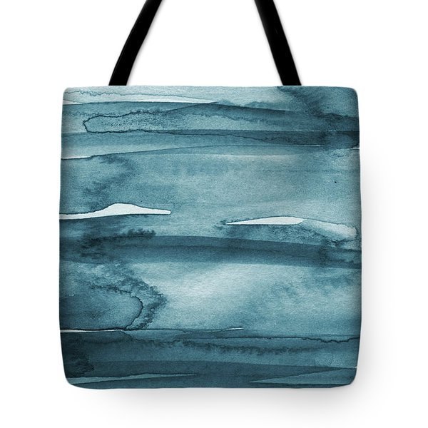Indigo Water- Abstract Painting Tote Bag