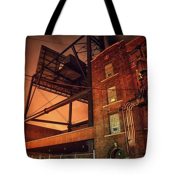 Industrial Sky Tote Bag