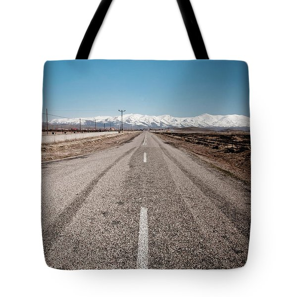 infinit road in Turkish landscapes Tote Bag