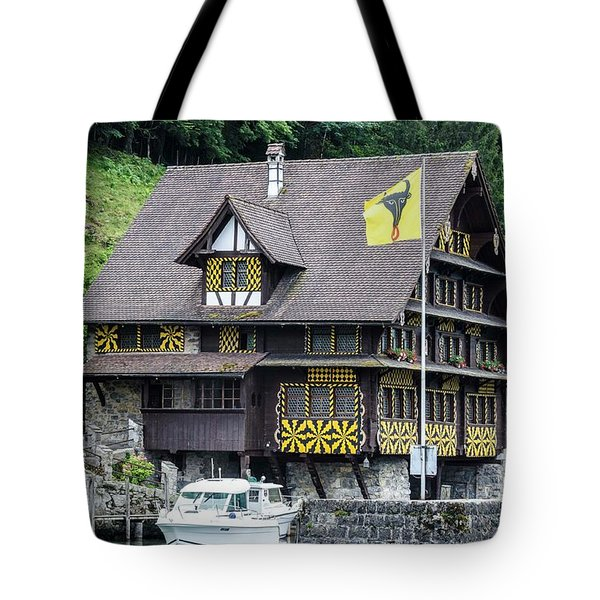Inn On Lake Lucerne Tote Bag
