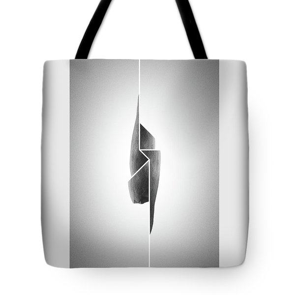 Innaiant Coal Redux - Surreal Abstract Jawbone Collage Tote Bag