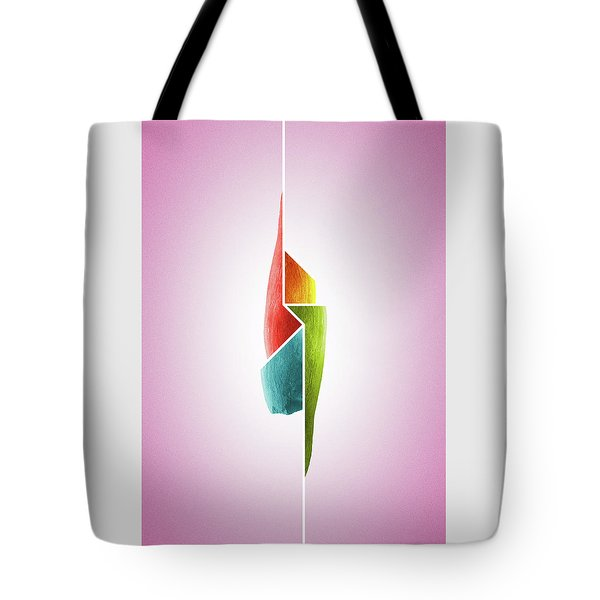 Innaiant Ice Cream Redux - Surreal Abstract Jawbone Collage Tote Bag