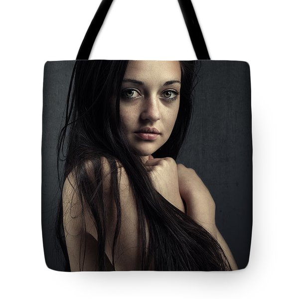 Innocent Young Woman Tote Bag