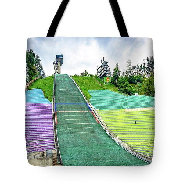Innsbruck Olympic Stadium Tote Bag