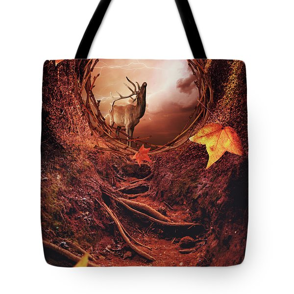 Inside Autumn Forest Tote Bag