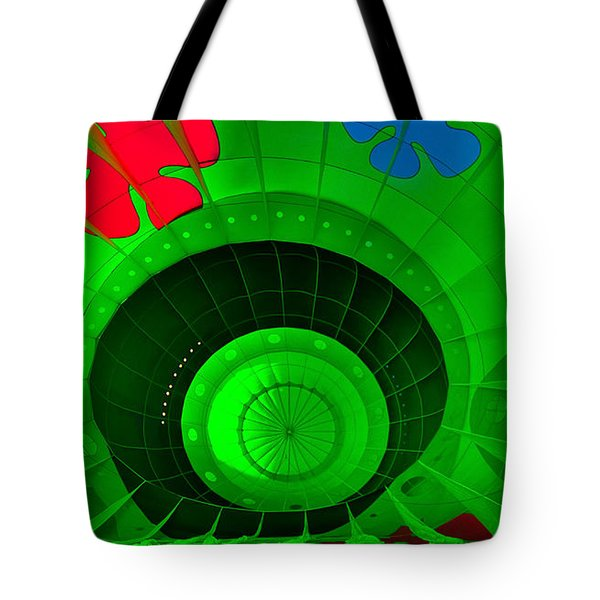Inside The Green Balloon Tote Bag