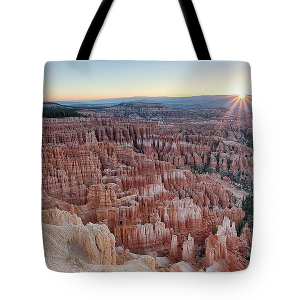 Inspiration Point Sunrise Bryce Canyon National Park Summer Solstice Tote Bag