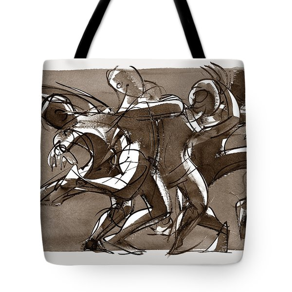 Tote Bag featuring the digital art Interaction by Judith Kunzle
