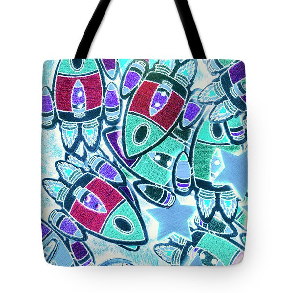 Intergalactic Abstract Tote Bag