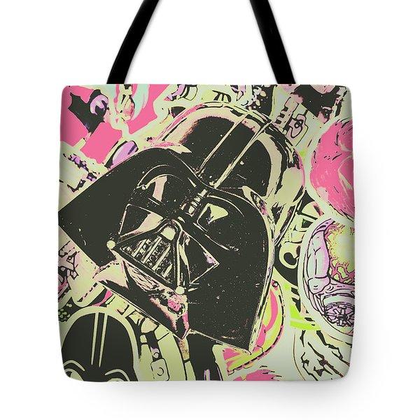 Intergalactic Planetary Pop Art Tote Bag