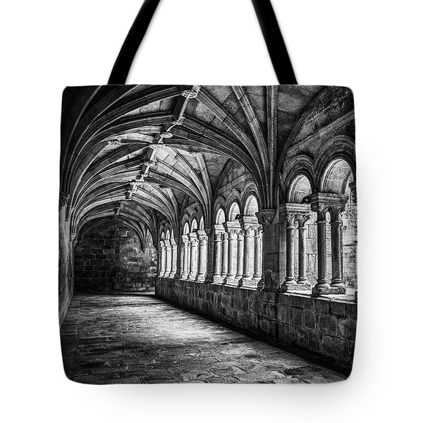 Tote Bag featuring the photograph Interior Corridors Of The Monastery Of Santo Estevo De Ribas Del Sil by Eduardo Jose Accorinti