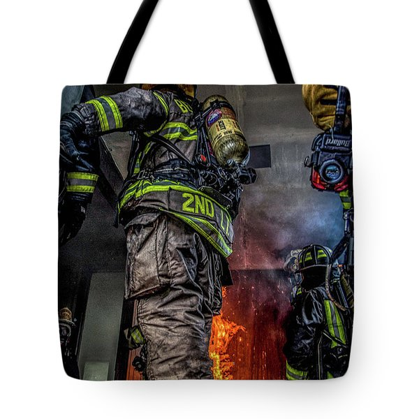 Interior Live Burn Tote Bag