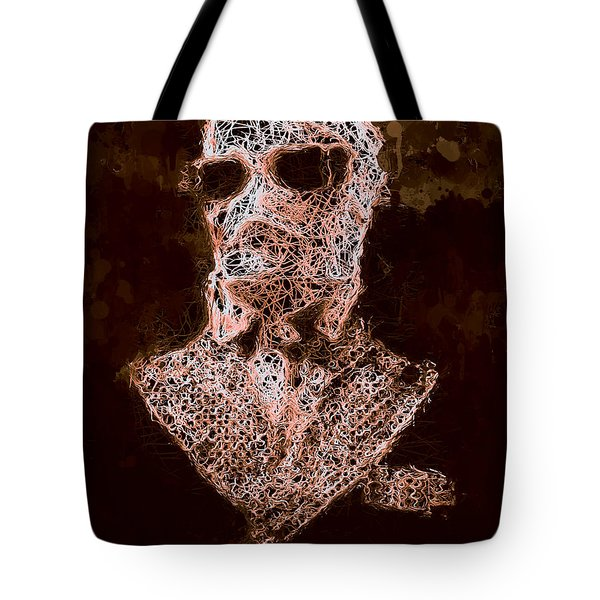 Tote Bag featuring the mixed media The Invisible Man by Al Matra