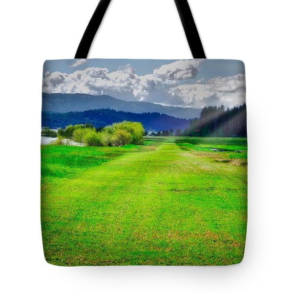 Inviting Airstrip Tote Bag