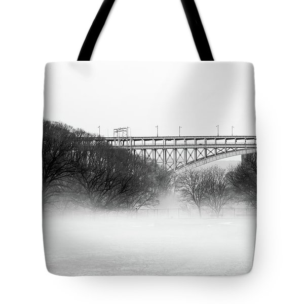 Tote Bag featuring the photograph Inwood Hill With Fog by Cole Thompson