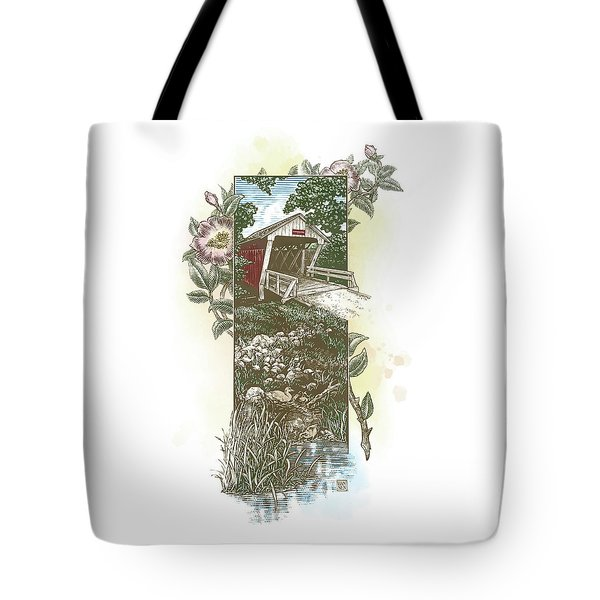 Iowa Covered Bridge Tote Bag