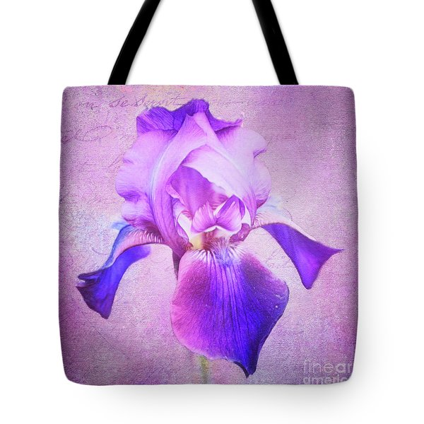 Pretty In Purple Iris Tote Bag