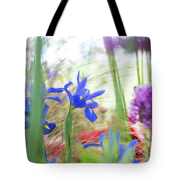 Tote Bag featuring the photograph Iris Hollandica 'professor Blaauw' On Display by Tim Gainey