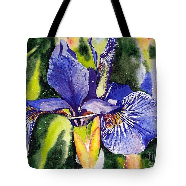 Iris In Bloom Tote Bag