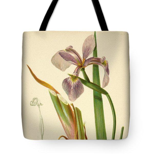 Iris Versicolor Blue Flag Tote Bag