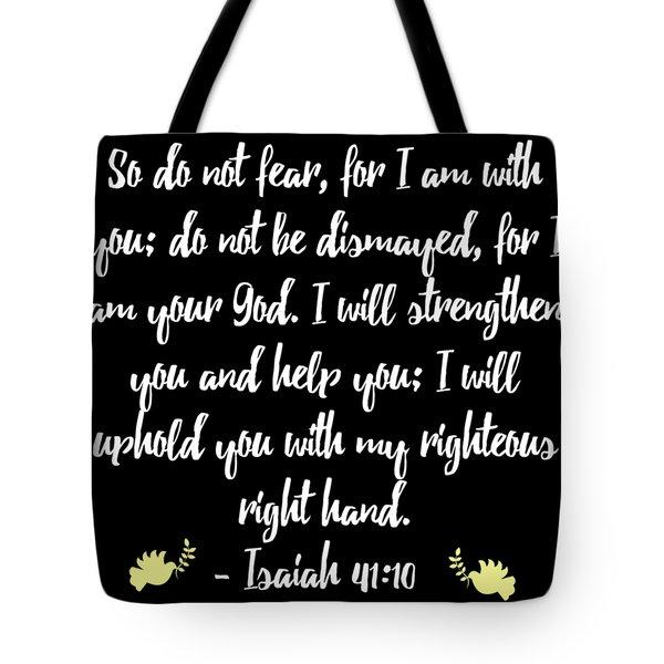 Isaiah 4110 Bible Tote Bag