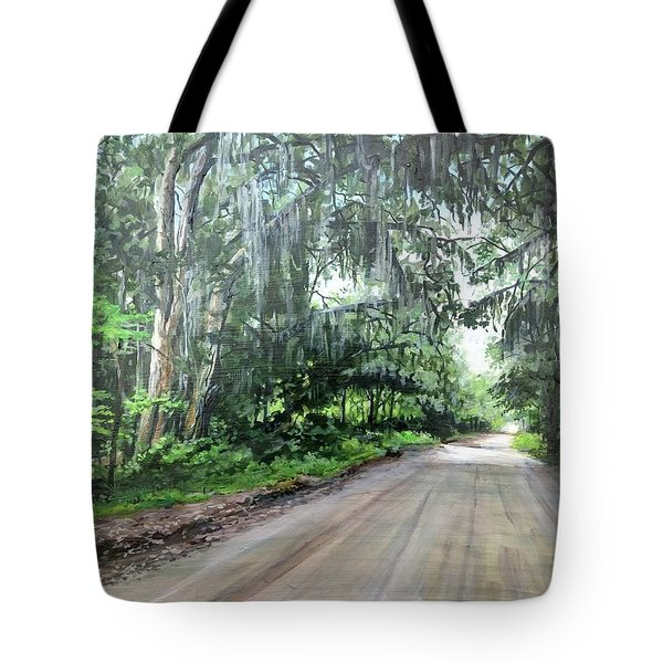 Tote Bag featuring the painting Island Road by William Brody