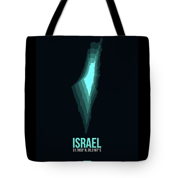 Israel Radiant Map 1 Tote Bag