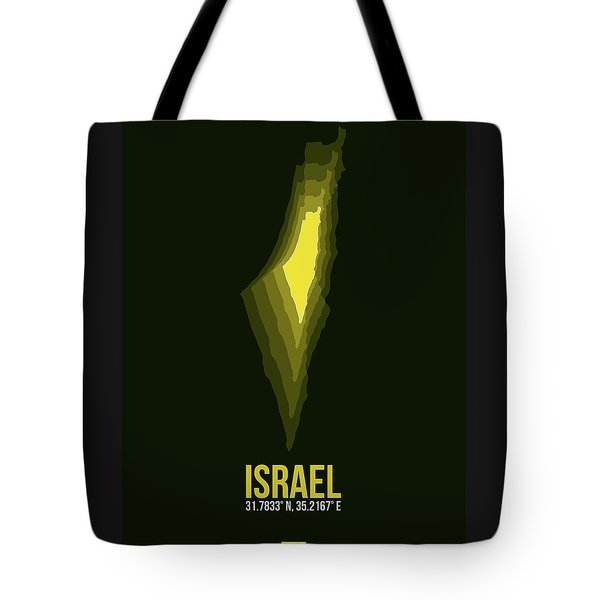 Israel Radiant Map 2 Tote Bag