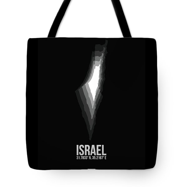 Israel Radiant Map 3 Tote Bag