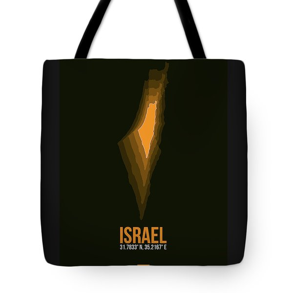Israel Radiant Map 4 Tote Bag